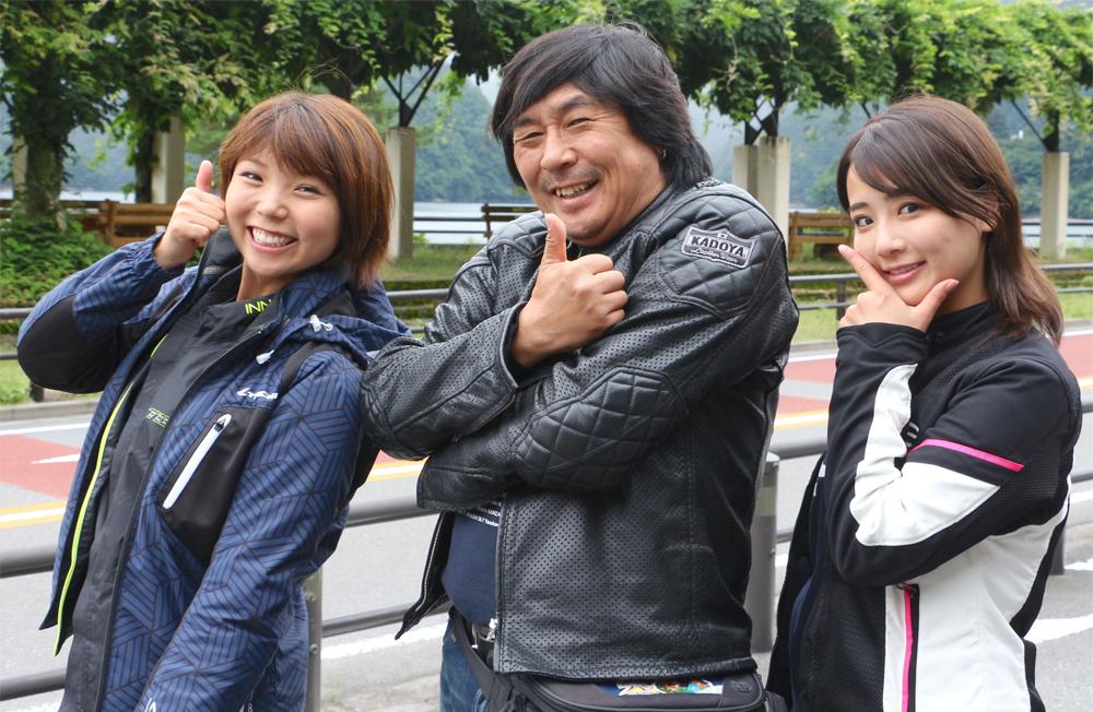 チバテレ「週刊バイクTV」放送800回記念! 末飛登、岸田彩美、平嶋夏海が奥多摩で思い出を語る